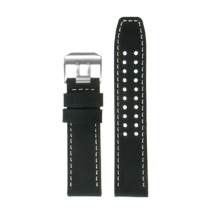 DASSARI 23mm Vintage Leather Watch Strap for Luminox Evo