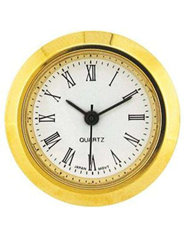 Clock Movement Quartz Mini Insertion Head Ø25mm Gold Roman