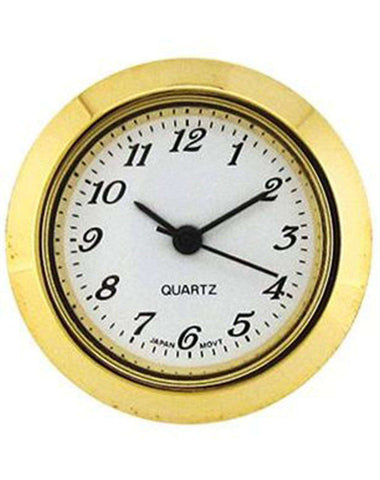 Clock Movement Quartz Mini Insertion Head Ø25mm Gold Arabic
