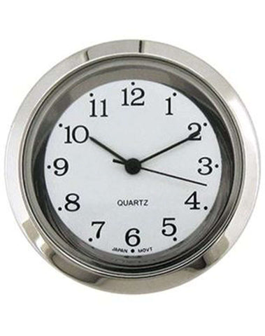 Clock Movement Quartz Mini Insertion Head Ø35mm Chrome Arabic