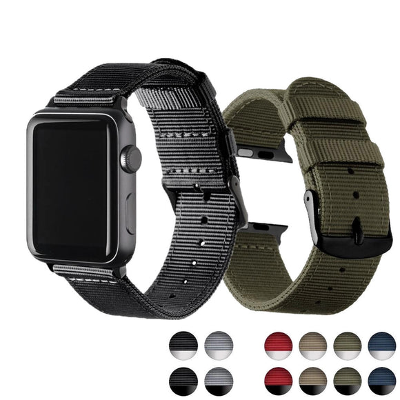 Lightweight Breathable Waterproof Nylon Strap for Apple iWatch 38mm, 40mm, 42mm, 44mm Series 5,4 3 2 1