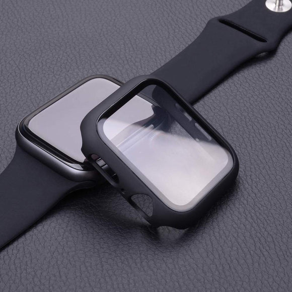 Apple iWatch Case and Tempered Glass Screen Protector  For Apple Watch 44mm 40mm Series 5 4 3 2 1