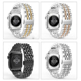 Stainless Steel Watch Bracelet or Apple iWatch Series 5, 4, 3,2 44mm 42mm 40mm 38mm