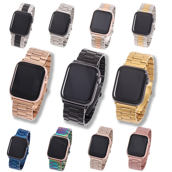 Stainless Steel Watch Bracelet for Apple iWatch  38mm, 40mm, 42mm, 44mm for Series 5, 4, 3, 2,