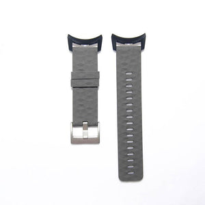 Soft Silicone Watch Strap for Suunto D6/D6i  Dive Computer plus Adapters Grey, Black and Orange
