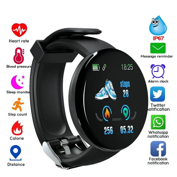 Round Smart Watch Bluetooth, Blood Pressure, Sport Tracker, Android