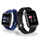 Square Smart Watch 1.3 inch Bluetooth Touch Button Heart Rate, Fitness Tracking, Smart
