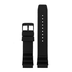Rubber Watch Band for Luminox 3100 Series W/ Matte Black Buckle