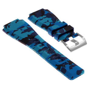 Camo Rubber Watch Strap for Bell & Ross