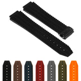 Rubber Watch Strap for Hublot Big Bang with Matte Black Clasp