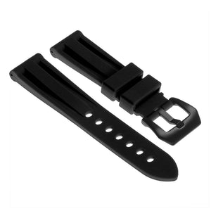Silicone Watch Strap with Matte Black Pre-V Buckle
