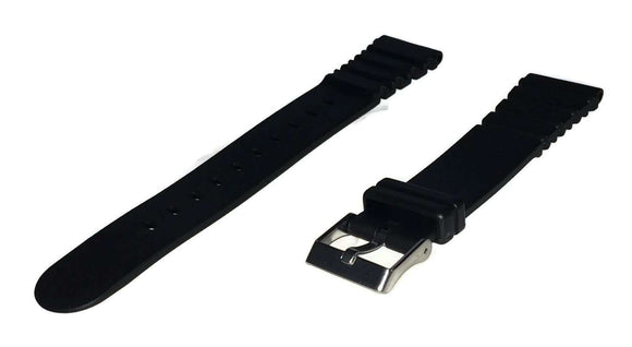 Diving Watch Strap 20mm (20mm Overall Width) Stainless Steel Buckle