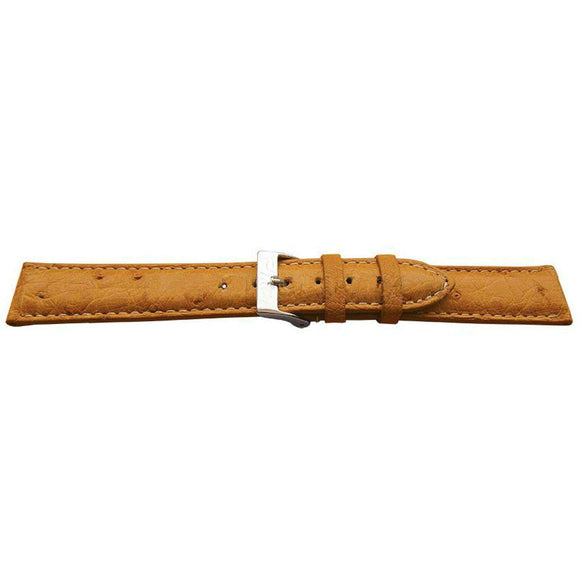Genuine Ostrich Watch Strap Padded Stitched High Shine
