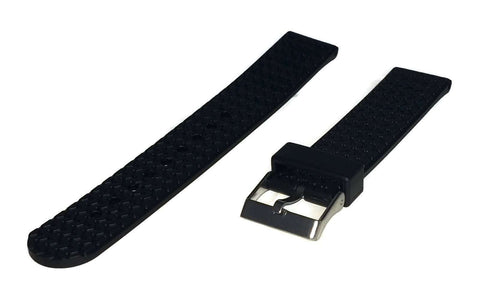 Diving Watch Strap 20mm (22mm Overall Width) Stainless Steel Buckle Tyre Tread