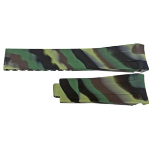 Rubber Watch Strap for Rolex GMT Oyster & Omega SeaMaster Camouflage 20mm