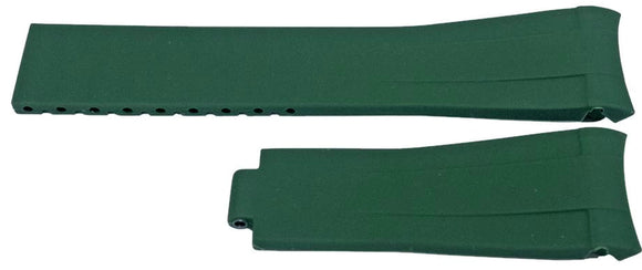 Rubber Watch Strap for Rolex GMT Oyster & Omega SeaMaster Green 20mm