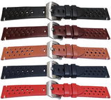 Calf Leather Watch Strap Flat, Smooth Elegance Style 20mm,22mm and 24mm