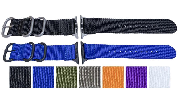 Apple iWatch Strap Woven Fabric 2 Piece Style 38mm and 42mm