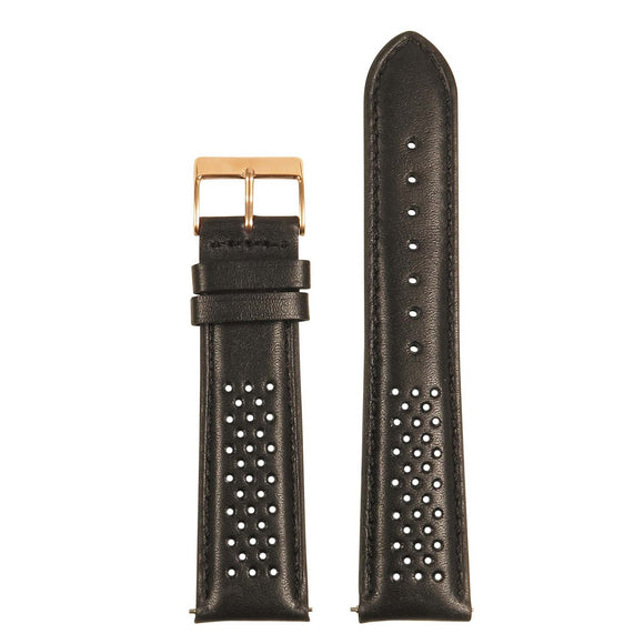 Perforated Rally Strap w/ Rose Gold Buckle - Quick Release