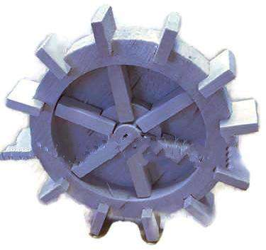 Cuckoo Clock Water Wheel Wooden 60mm Overall diameter