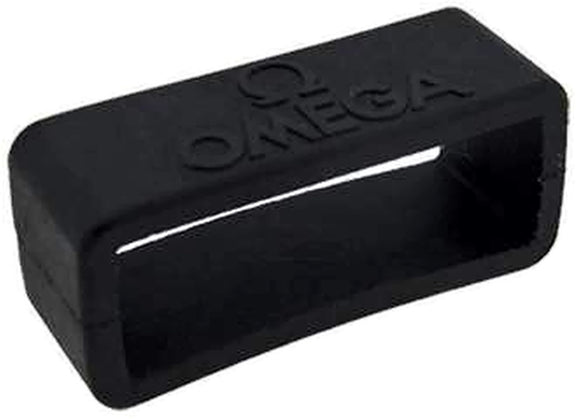 Authentic Omega Watch Strap Keeper 20mm Black Rubber Keeper with