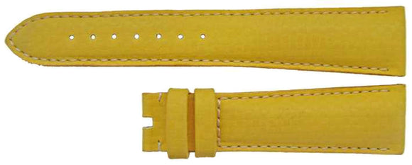 Authentic Omega Watch Strap 20mm Yellow Calf Leather