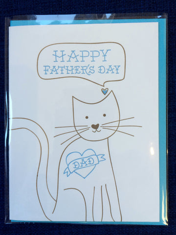 Happy Father's Day Card - from the Cat