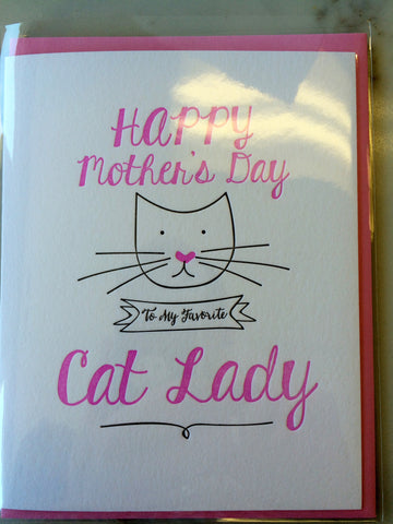 Happy Mother's Day Card - from the Cat