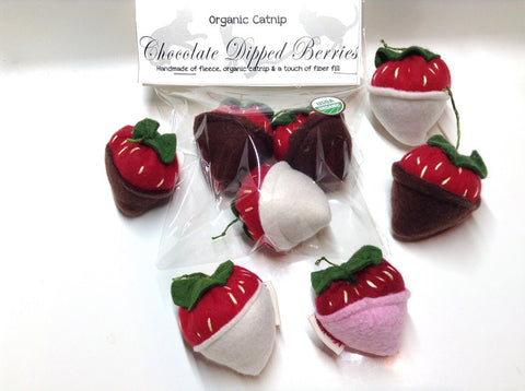 Catnip Strawberries (Set of 3)
