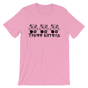 Three Kittens Cute Animal Unisex short sleeve t-shirt
