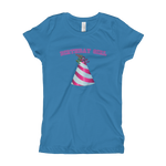 Load image into Gallery viewer, Happy Birthday Hat Girl's T-Shirt - Adult Women's