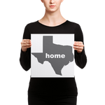 Load image into Gallery viewer, Texas is home and heart this Canvas shows off your Lone Star Pride