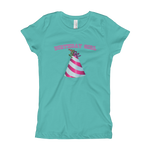 Load image into Gallery viewer, Happy Birthday Hat Girl's T-Shirt