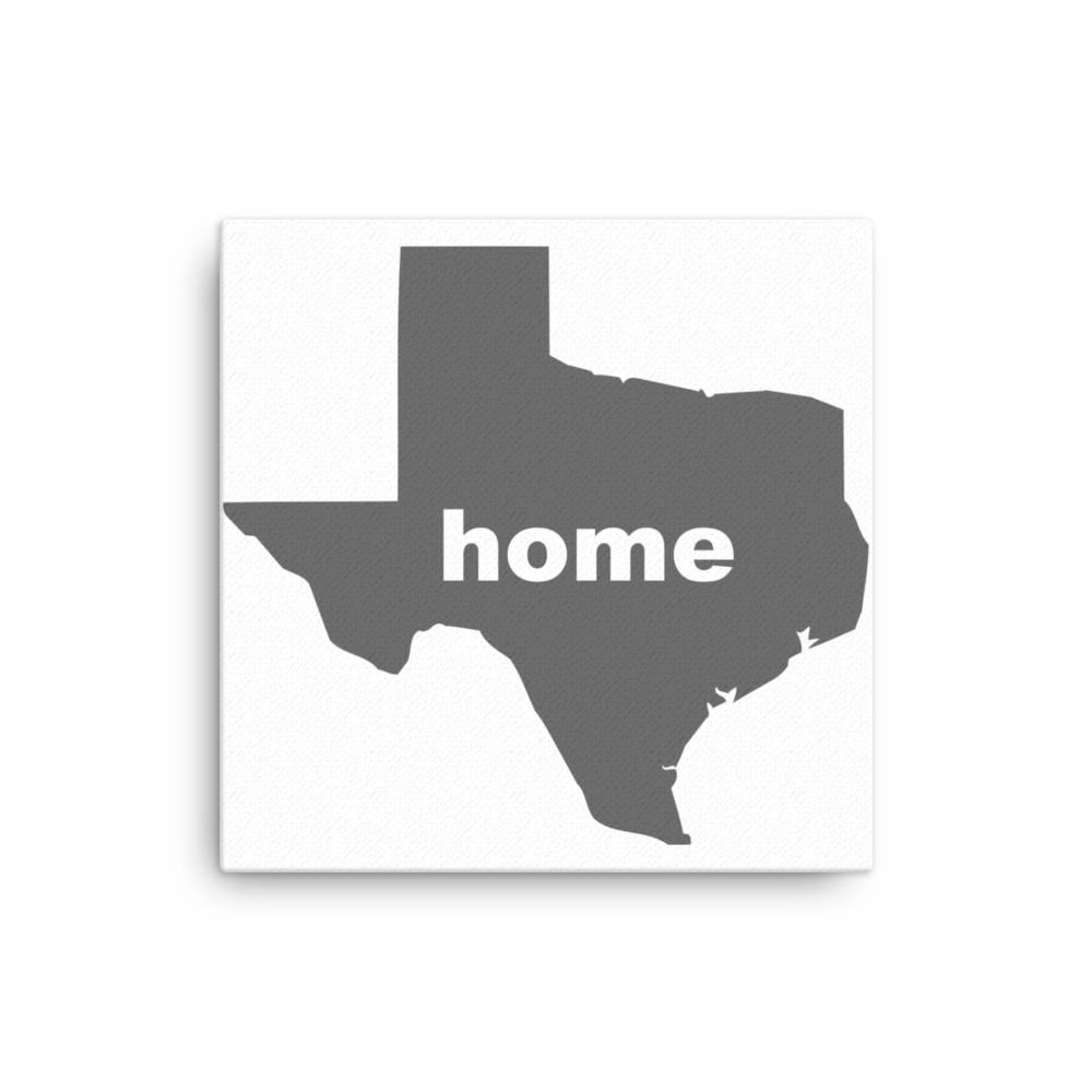 Texas is home and heart this Canvas shows off your Lone Star Pride