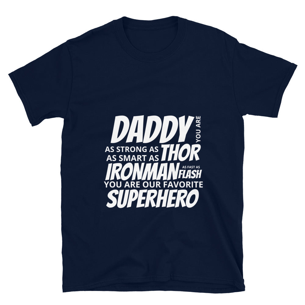 Daddy Superhero Short-Sleeve Unisex T-Shirt