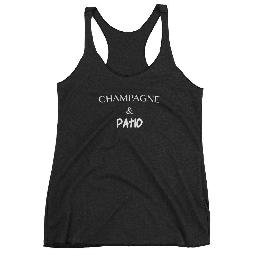 Champagne and Patio Women's tank top