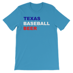 Load image into Gallery viewer, Texas Baseball and Beer Sports Unisex short sleeve t-shirt