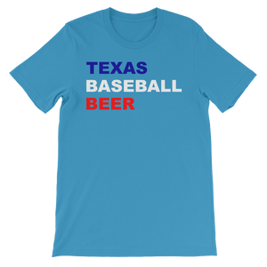 Texas Baseball and Beer Sports Unisex short sleeve t-shirt