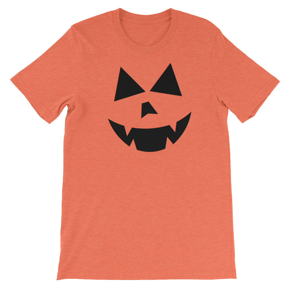 Jack O' Lantern Face | Halloween Pumpkin Face Fun Unisex T-shirt Unisex short sleeve t-shirt