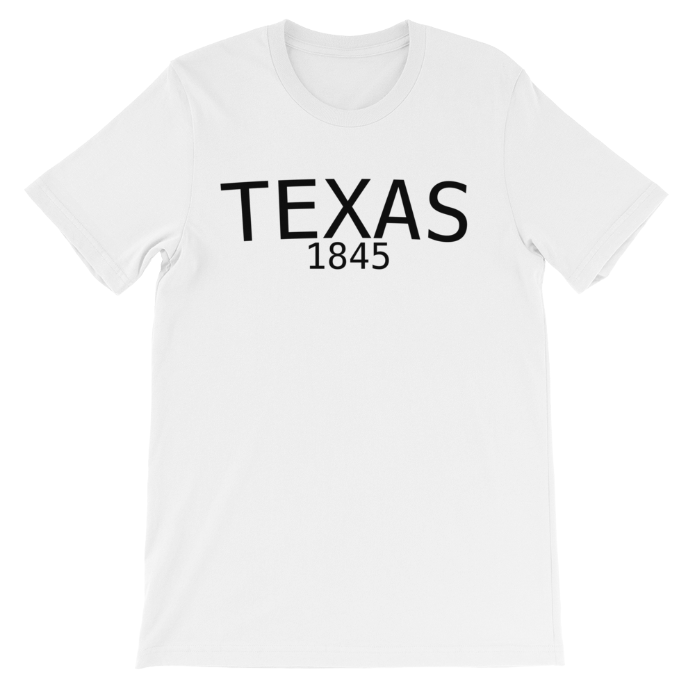 Texas established date 1845 Unisex short sleeve t-shirt