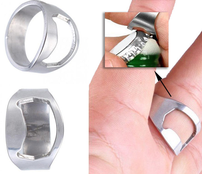 Man Beer Lover Ring Bottle Opener Gift (2 pack!)