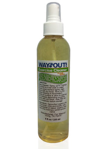 Wayout!  Exercise Cleaning Spray - 100% All-Natural with Essential Oils - Large 8 oz size