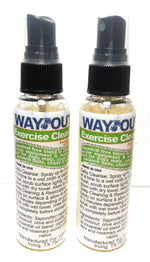 Load image into Gallery viewer, Wayout! Exercise Cleaning Spray Cleaner - 100% All-Natural with Essential Oils - 2 Count, 2 Ounce each