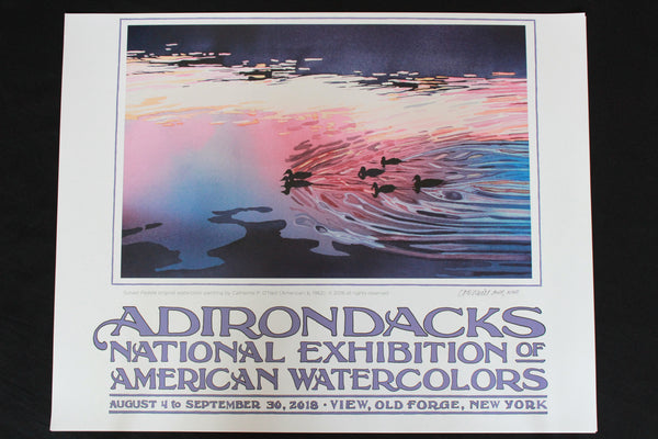 2018  Adirondacks National Exhibition of American Watercolors Poster