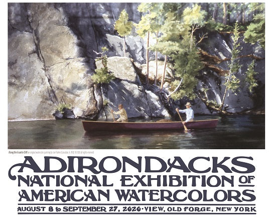 2020 Adirondacks National Exhibition of American Watercolors Poster