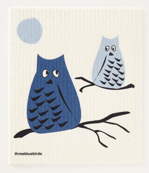 Blue Owl Dishcloth