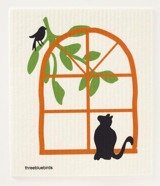 Cat in the Window Dishcloth