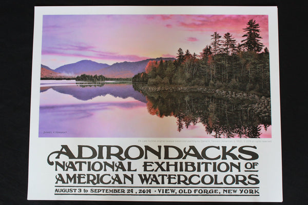 2019 Adirondacks National Exhibition of American Watercolors Poster