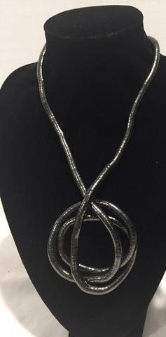 Necklace - Bendable - Gun Metal (Thick)