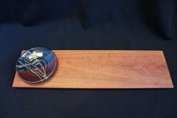Cherry Bread Board and Dipping Bowl